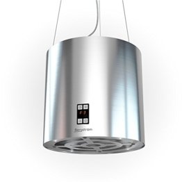 Bergstroem Design Inselhaube Dunstabzugshaube freihängend Edelstahl Deckenhaube -