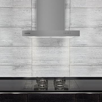 Klarstein Zarah Dunstabzugshaube Abzugshaube (Edelstahl, 60cm Breite, 620 m³/h Abluftleistung, 3 Leistungsstufen, Halogen-Beleuchtung, Aluminium-Fettfilter, Wandmontage geeignet) silber -