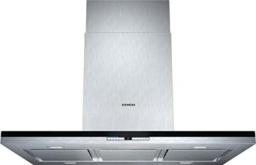 Siemens LF91BB552 iQ700 Inselhaube / 90,0 cm / Die Lüfterleistung von 710 m3/h sorgt für frische Luft beim Kochen / Edelstahl -