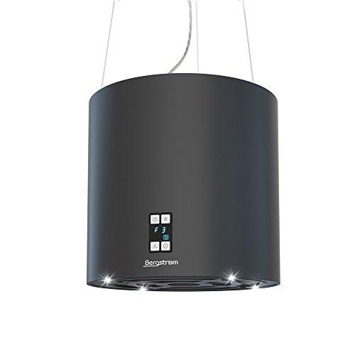 bergstroem design inselhaube freih ngend schwarz dunstabzugshauben test. Black Bedroom Furniture Sets. Home Design Ideas