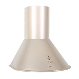 Klarstein Lumio Dunstabzugshaub Retrohaube Wandhaube (60 cm Breite, 430m³/h Abluftleistung, 3 Leistungstufen, optionaler Umluftbetrieb, Edelstahl) champagner -