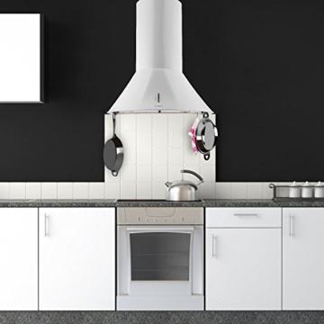 Klarstein Lumio Primo Retro Dunstabzugshaube Wandabzugshaube (Edelstahl, 60cm Breite, 430 m³/h Abluftleistung, Aluminium-Fettfilter, Wandmontage geeignet) weiß -
