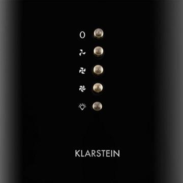 Klarstein Noir Dunstabzugshaube Retrohaube Wandhaube (60cm, 500m3/h Abluftleistung, 3 Leistungsstufen, optionaler Umluftbetrieb, Edelstahl) schwarz -